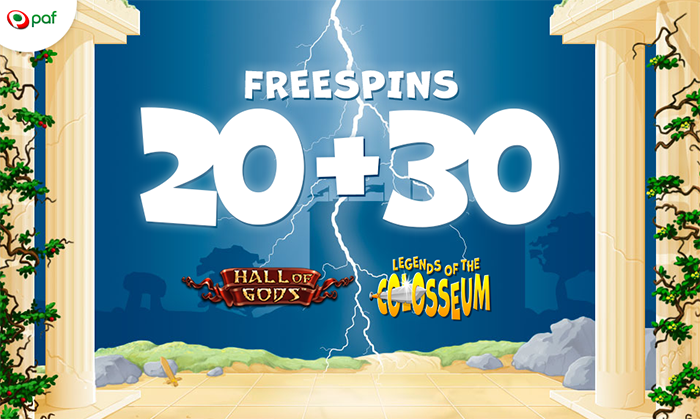 20+30 freespins Paf