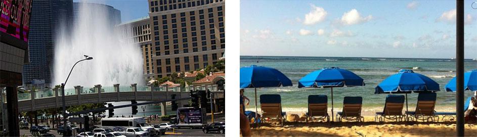 Paf Las Vegas och Hawaii